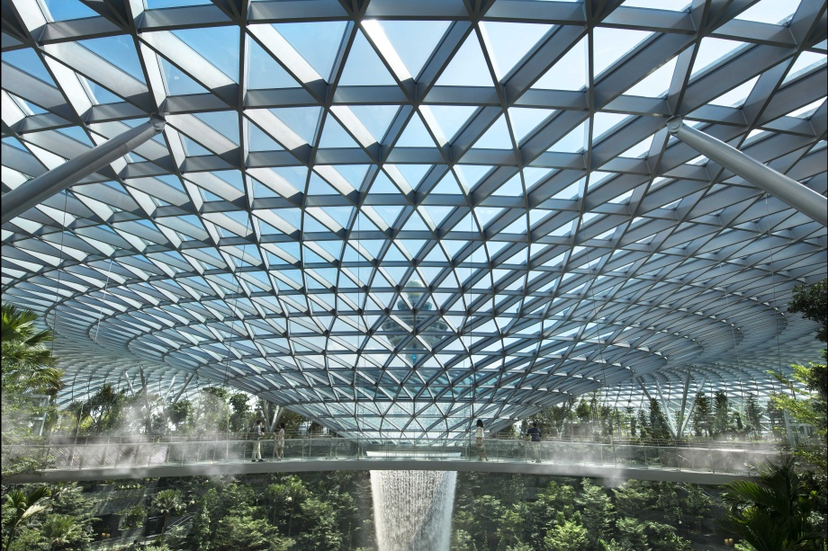 Singapore Changi Airport Canopy Bridge and Canopy Park